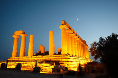 Ancient temple. In the valley of the temples in Agrigento, Sicily, Italy Royalty Free Stock Photography