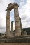 Ancient temple. Ruins of an ancient temple in doric order stock photos