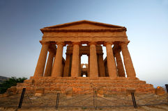Ancient temple in Agrigento. Exterior of ancient temple in Valley of the Temples, Agrigento, Sicily, Italy Royalty Free Stock Photography