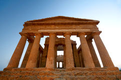 Ancient temple in Agrigento. Ancient temple in Valley of the Temples, Agrigento, Sicily, Italy Royalty Free Stock Photo