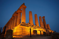 Ancient temple of Agrigento. Ancient temple in the valley of the temples in Agrigento, Sicily, Italy Stock Photo