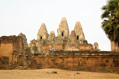 Ancient temple in Angkor Stock Photography