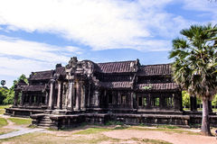 The ancient temple of Angkor Wat Royalty Free Stock Photo