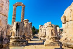 Ruins of the Apollo Temple in Didyma, Turkey. Royalty Free Stock Image