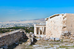 Ancient temple of Athena Nike in Acropolis, Athens Royalty Free Stock Photos