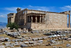 Ancient temple in Athens Royalty Free Stock Photo