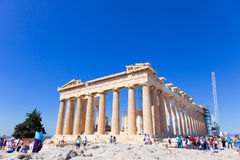 Ancient temple in Athens Stock Image