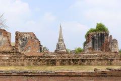 Ancient temple in Ayuthaya,Thailand. Wat Maha That,ancient temple in Ayuthaya historical,Thailand Royalty Free Stock Image