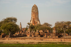 Ancient Temple in Ayutthaya Historical Park,Thailand. Royalty Free Stock Photos