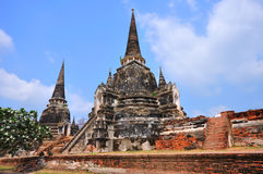 Ancient temple of Ayutthaya, Thailand. Royalty Free Stock Images