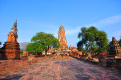 Ancient temple of Ayutthaya, Thailand. Stock Image