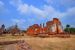 Ancient temple of Ayutthaya, Thailand. Royalty Free Stock Photos