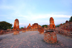 Ancient temple of Ayutthaya, Thailand. Stock Photo