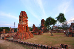 Ancient temple of Ayutthaya, Thailand. Royalty Free Stock Photography