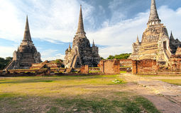 Ancient temple in Ayutthaya Thailand, wat phra si saphet Royalty Free Stock Photo
