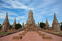 Ancient Temple In Ayutthaya Royalty Free Stock Photos