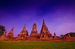Ancient temple in AYUTTHAYA World Heritage,TH. Royalty Free Stock Photo