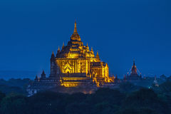 Ancient temple in Bagan after sunset Royalty Free Stock Photo
