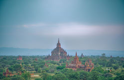 Ancient temple in Bagan after sunset , Myanmar Royalty Free Stock Photos