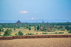 Ancient temple in Bagan after sunset , Myanmar Royalty Free Stock Image
