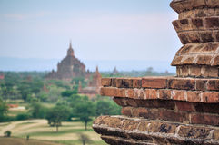 Ancient temple in Bagan after sunset , Myanmar Royalty Free Stock Images