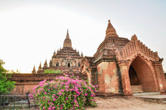 Ancient temple in Bagan after sunset , Myanmar Stock Photos
