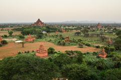 Ancient temple in Bagan after sunset , Myanmar Royalty Free Stock Photo