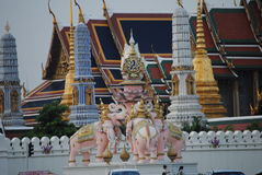 Ancient temple in Bangkok Stock Images