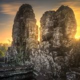 Ancient temple Bayon Angkor Siem Reap, Cambodia Royalty Free Stock Image