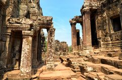 Ancient temple Bayon in Angkor Wat Stock Images