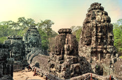 Ancient temple Bayon in Angkor Wat Royalty Free Stock Image