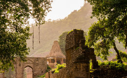 Ancient temple in Bhangarh india. Ancient haunted temple in Bhangarh, Rajasthan India. The entire city is said to be cursed and inhabited by ghosts. This makes Stock Images