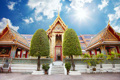 Ancient temple in Bkk Stock Image