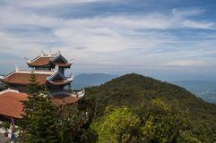 Ancient temple of buddha in mountains. Vietnam Stock Image