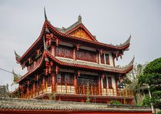 Ancient temple in Chengdu, China stock image