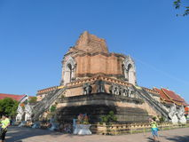 Ancient temple in Chiang Mai. Temples built in ancient times. Located in the heart of Chiang Mai Stock Photography
