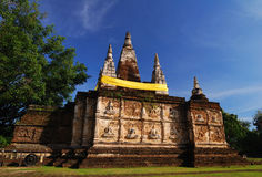 Ancient temple in chiangmai, northern ofthailand Royalty Free Stock Image