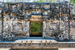 Ancient Temple in Chicanna, Mexico royalty free stock photography