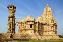 An ancient temple in the Chittorgarh fortress. Royalty Free Stock Image
