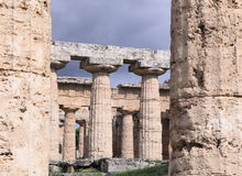 Ancient temple columns Royalty Free Stock Photos
