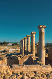 Ancient temple columns in Kato Paphos Archaeological Park on Cyp Stock Photos