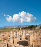 Ancient temple columns in Kato Paphos Archaeological Park, Cypru Royalty Free Stock Photos