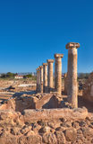 Ancient temple columns in Kato Paphos Archaeological Park, Cypru Stock Photo