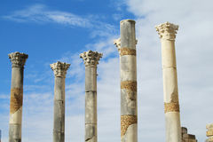 Ancient temple columns Royalty Free Stock Images