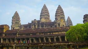 Ancient temple complex - Angkor Wat in Cambodia stock video footage