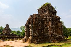 Ancient temple complex in My Son stock photos