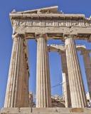 Ancient temple detail, acropolis of Athens, Greece Stock Photos