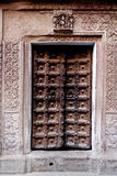 Ancient Temple Door in Varanasi India stock image