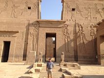 Ancient temple in Egypt carvings royalty free stock images