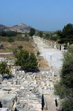 Ancient temple in Ephesus. Street in the ancient city of Ephesus, Turkey stock images